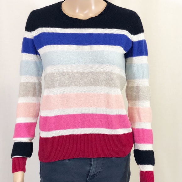 beb51530648 Sonia Rykiel Sweaters | Rainbow Striped Lambswool Sweater | Poshmark